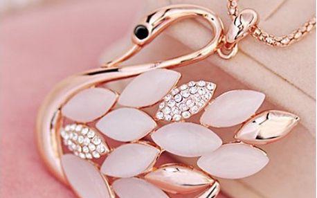 Kouzelný náhrdelník s přívěskem labutě