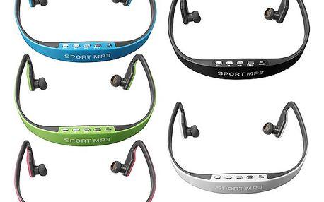 Sportovní bezdrátová sluchátka s MP3 přehrávačem - 5 barev