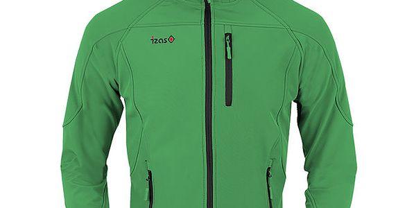 Dámská zelená softshellová bunda s černým zipem Izas