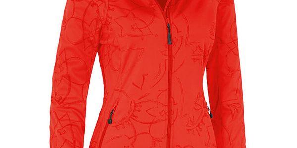 Dámská červená softshellová bunda se vzorem Maier