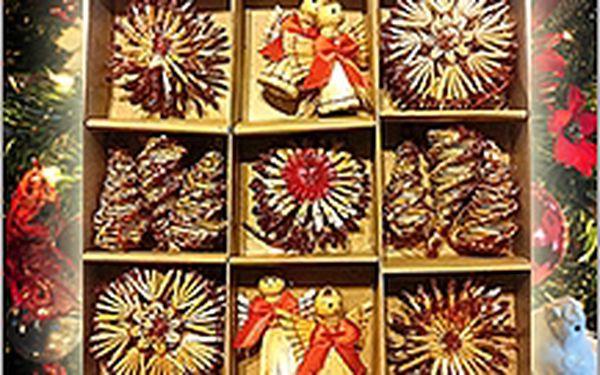 Slaměné vánoční ozdoby