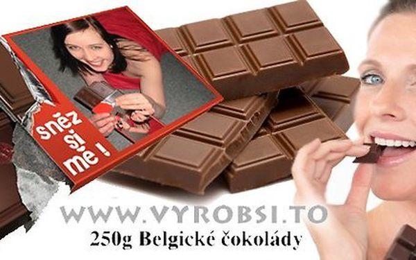 Obří čokolády s vlastní fotkou a nápisem