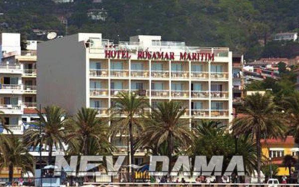 Hotel Rosamar Maritim, Lloret de Mar, Španělsko, vlastní doprava, polopenze