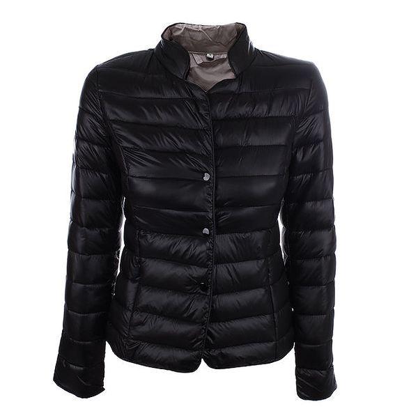 Dámská černá prošívaná bunda s druky DJ85°C
