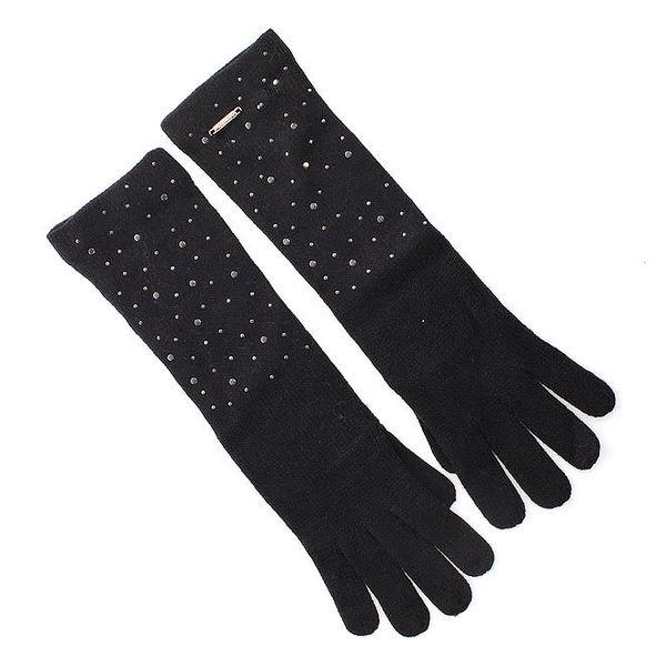 Dámské dlouhé černé rukavice Gaudí