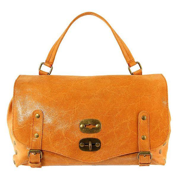 Dámská oranžová kabelka s kovovými prvky Kreativa bags