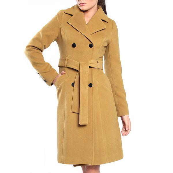 Dámský okrový kabát Vera Ravenna