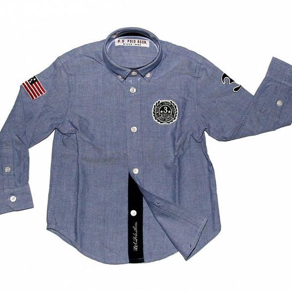 Dětská světle modrá košile U.S. Polo