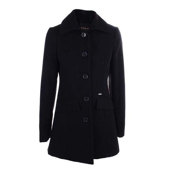 Dámský černý kabát Phard