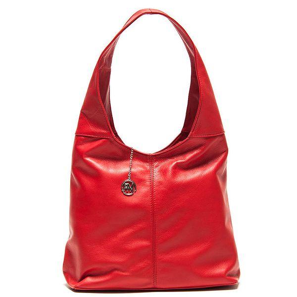 Dámská červená kabelka s jedním uchem Roberta Minelli