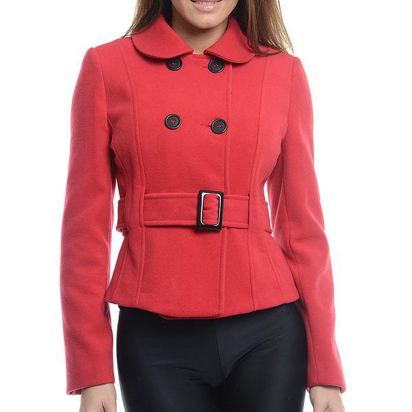 Dámský červený krátký kabátek Vera Ravenna