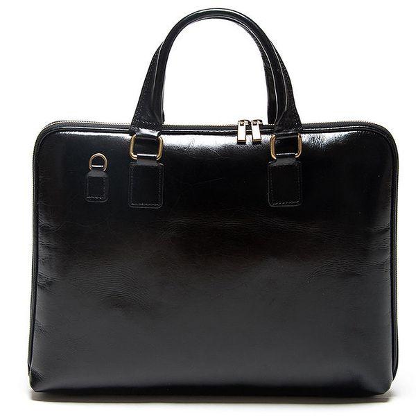 Dámská černá obdélníková kabelka Mangotti