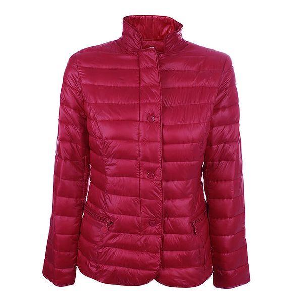 Dámská červená prošívaná bunda se stojáčkem DJ85°C
