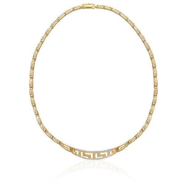 Dámský pozlacený náhrdelník se zirkony La Mimossa