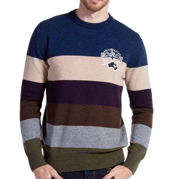 Pánský barevně pruhovaný svetr Galvanni