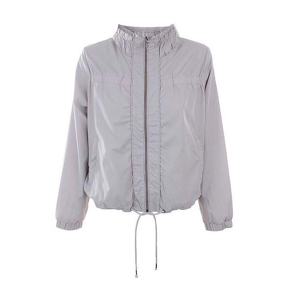 Dámská šedá bunda na zip Timeout