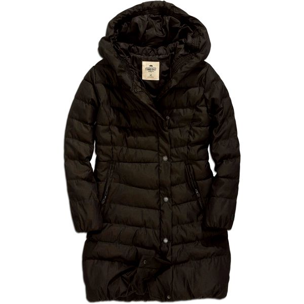 Dámský zimní prošívaný kabát v tmavě hnědé barvě Timeout