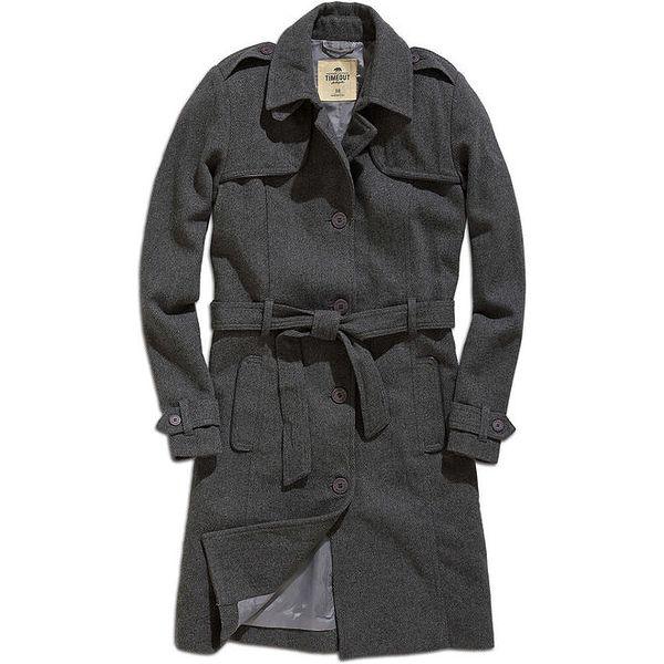 Dámský šedý kabát Timeout
