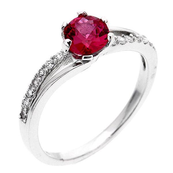 Dámský prsten s fuchsiovým zirkonem Afrodite