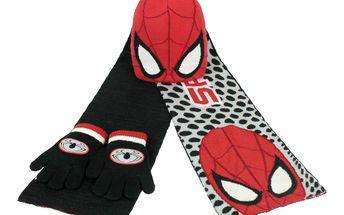 Chlapecký zimní set Spiderman - rukavice, šála, čepice