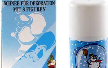 Sněhový sprej Idena obsahuje 150 ml a 8 šablon