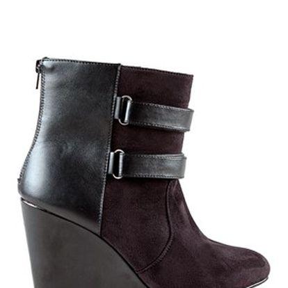 Módní dámské kotníkové boty na klínku