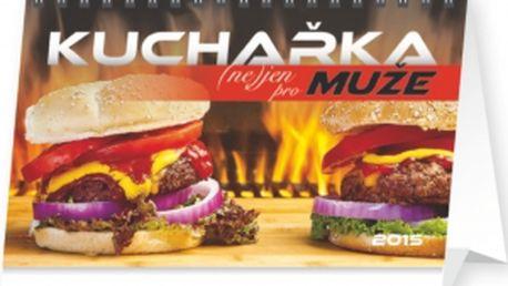 Kuchařka (ne)jen pro muže, kalendář 2015, 23,1 x 14,5 cm