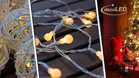 Vánoční světelné LED řetězy (3 varianty)