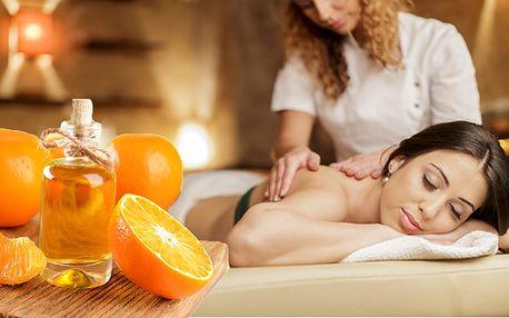 Vánoční pomerančová masáž shřebíčkem vdélce 60 minut