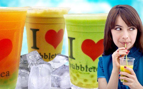 Lahodný nápoj bubble tea (700 ml) plný chuti