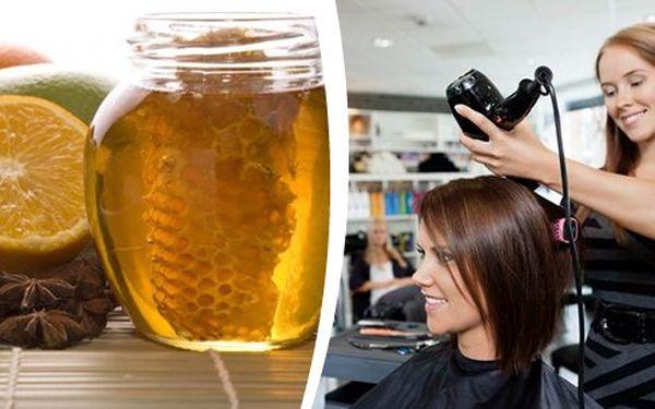 Super kadeřnický balíček s medovou regenerační kúrou na vlasy v centru Prahy, kúra je výborná pro suché a poškozené vlasy. Obnovující maska hloubkově vyživuje a zanechává vlasy jemné a lesklé.