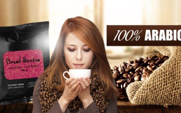 Káva 100% arabica z Brazílie - zrnková 250 g! Čerstvá pražená káva s náznakem příchutě čokolády!
