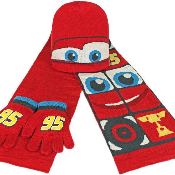 Chlapecký zimní set Cars - rukavice, šála, čepice
