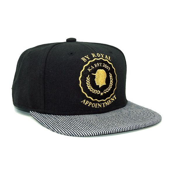 Kšiltovka King Apparel Gold Seal Black Strapback