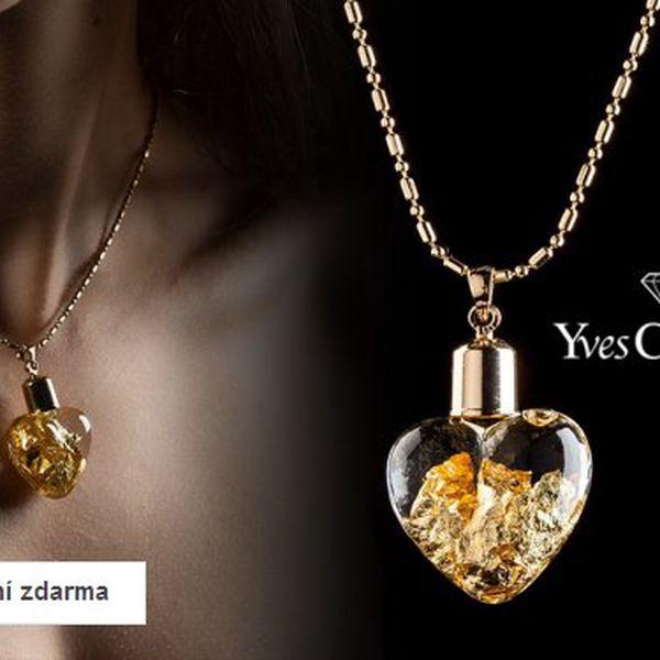 Přívěsek s ryzím zlatem a řetízkem Yves Camani