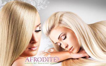 PRODLOUŽENÍ a ZAHUŠTĚNÍ VLASŮ KERATINEM v profesionálním studiu Afrodité!