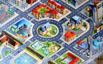 Vopi Dětský koberec Ultra Soft Letiště, 70 x 100 cm, 70 x 100 cm