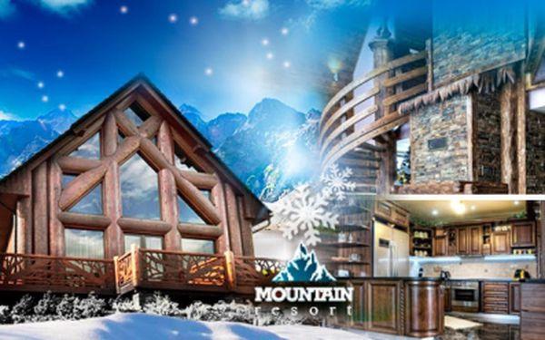 Dovolená v Tatrách pro 4 dospělé a 4 děti v LUXUSNÍ CHATĚ Mountain Resort! SAUNA a slevy na SKIPASY!