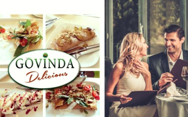 Vegatariánská a veganská restaurace Govinda na Praze 8 dle Vašeho výběru z menu!