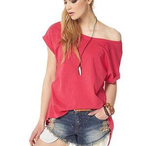 Jednoduché dámské oversized tričko