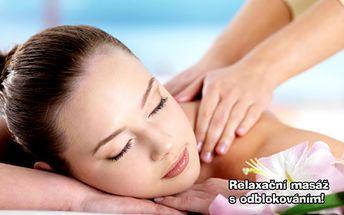 45 min. RELAXAČNÍ MASÁŽE zad a šíje s odblokováním v oblíbeném studiu Janina! Postarejte se o zdraví svého těla a zapomeňte na bolavá záda i ztuhlou šíji! Svěřte se do rukou profesionální masérky a v klidu relaxujte!!