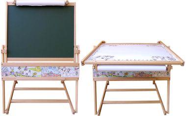 Dřevěná tabule a stolek 71001