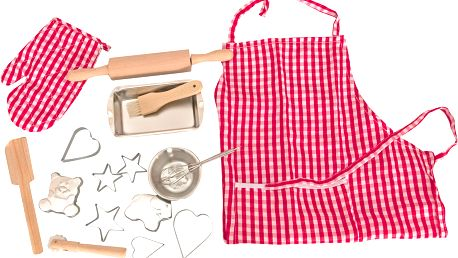 Pečící kuchyňská sada s tvořítky a zástěrou