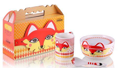 Krásný dětský porcelánový set Fox