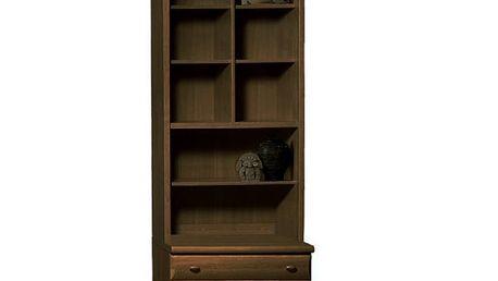SCONTO BORIS elegantní vitrína 236 x 52 cm ořech