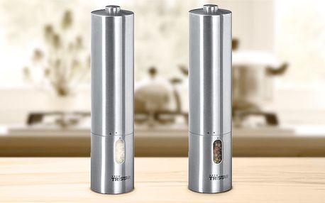 Nerezový elektrický mlýnek Tristar na sůl nebo pepř