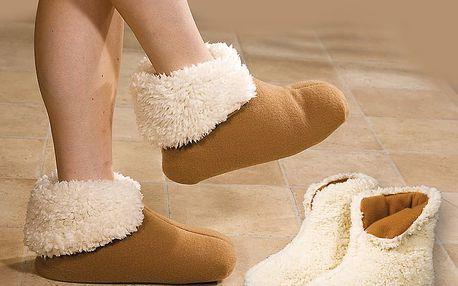 Domácí obuv s beránkem