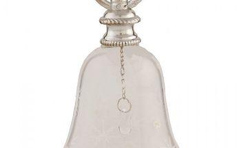 Skleněný zvoneček - nezapomeňte zazvonit na Ježíška!