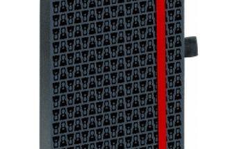 Teribear notes s gumičkou, A5, černá, 15 x 21 cm