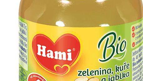 6 x HAMI BIO zelenina s kuřetem a jablky (125 g) - maso-zeleninový příkrm